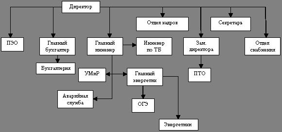 Схема управления МУП «